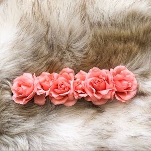Urban Outfitters Pink Flower Crown